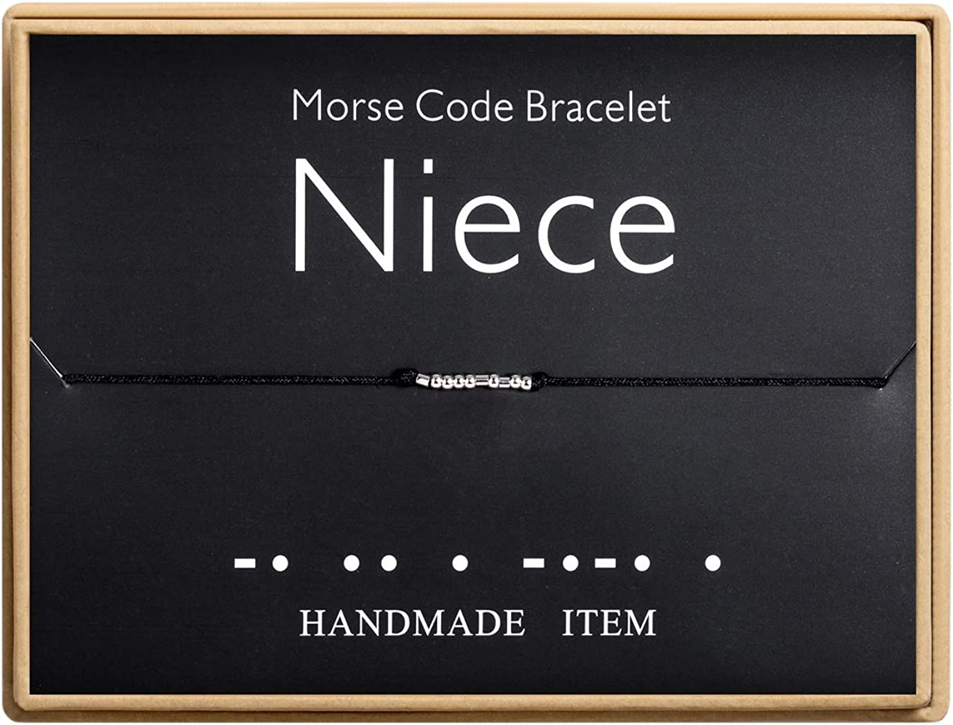 Niece Bracelet Morse Code Bracelet Handmade Bead Adjustable Stri