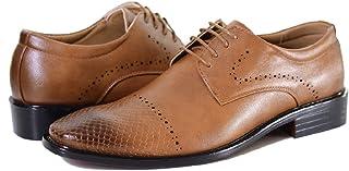 RIVAS Textured Lace-Up Derby Shoes