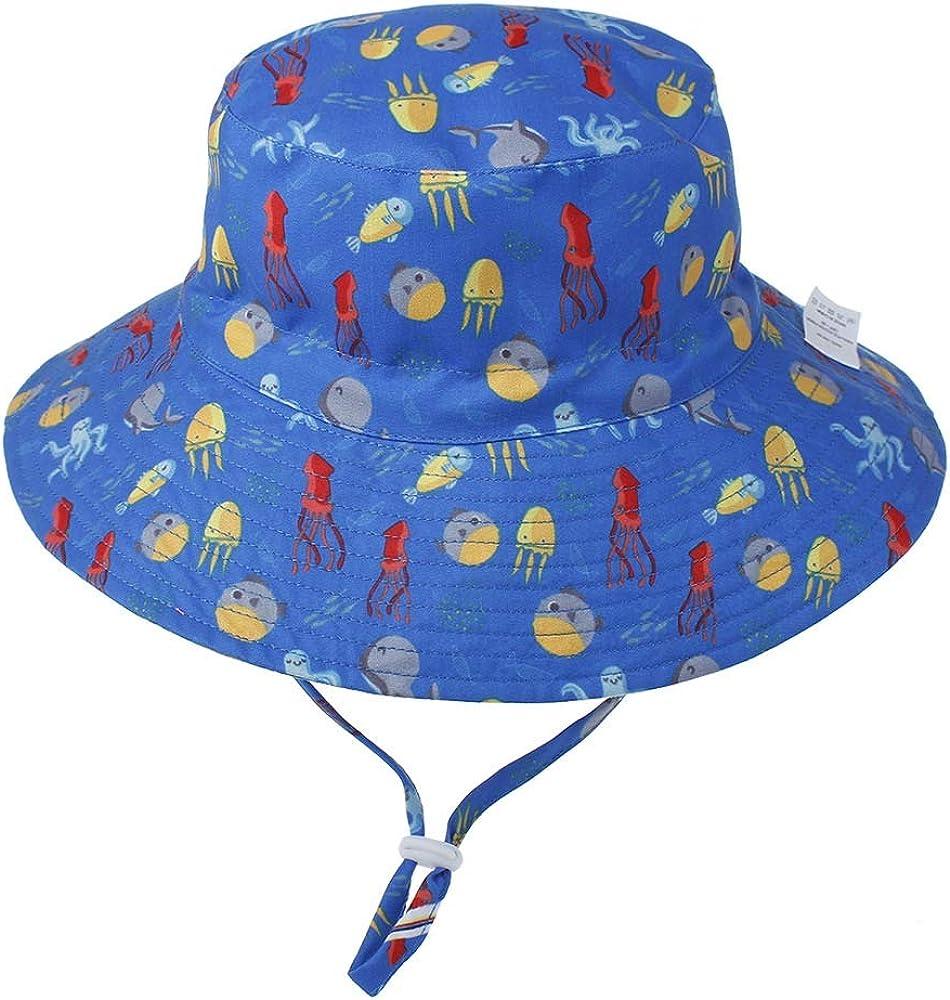 Z-YQL Baby Sun Hat Toddler Sun Protection Hat UPF 50 Breathable Cotton Bucket Summer Beach Sun-Hat