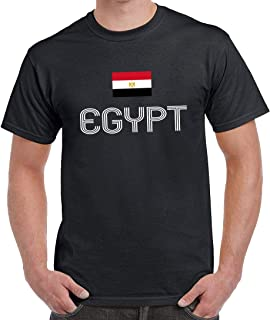 Egypt with Flag Cotton T-Shirt For Men