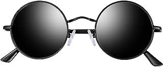 Joopin Lennon Round Sunglasses for Men Women, 2 Pack Small Circle Hippie Sunglasses Polarized