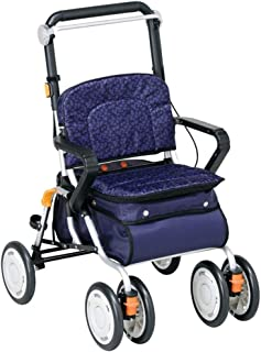 Mobility Aids & Supplies Walker Lightweight Folding Large Capacity Elderly Trolley Comfortable Sitting Scooter Rehabilitat...