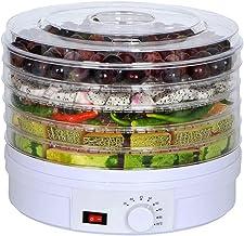 Déshydrateur de nourriture, thermostat réglable 35-70 ° C et cycle de séchage à 360 ° Séchoir de fruits - 5 plateaux empil...