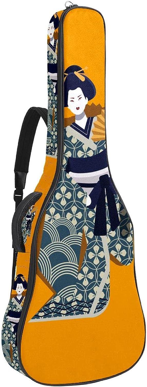 Paquete de guitarra acústica para principiantes, tamaño completo, con tapa de abeto, para guitarra acústica, disfraz nacional japonés, 108,9 x 42,8 x 11,9 cm