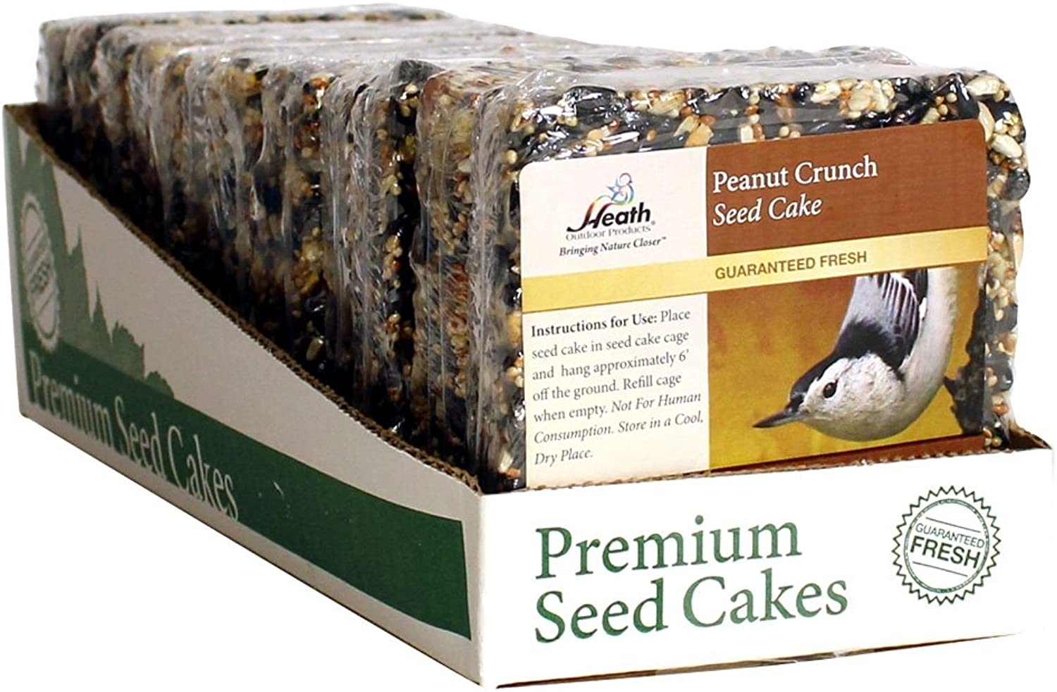 Heath Outdoor Products SC22 Peanut Crunch Seed Cake, 7Ounce 12pack