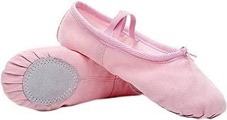 Lergo - Zapatillas de Ballet de algodón para niña