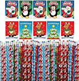 Christmas Holiday Activity Books With Wooden Pencils (36 of Each) Christmas Party Favors, Stocking Stuffers, Xmas Teachers Gifts for Students, Classroom Prize for Kids by by 4Es Novelty