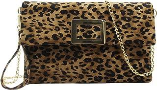 RARITYUS Women Fashion Crossbody Bag Handbag Snakeskin Textured PU Leather Sling Messenger Shoulder Bag with Chain Strap