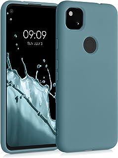 kwmobile telefoonhoesje compatibel met Google Pixel 4a - Hoesje voor smartphone - Back cover in arctisch blauw