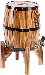 Casiers à vin Jardinière en tonneau en Bois pour Appareil à vin, fût de chêne Vertical, Baril de vieillissement en chêne a...