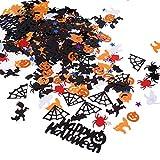 Wusteg Halloween Confetti Halloween Party Plastic Confetti Glitter Colorful Pumpkin Spider Confetti Party Decorations Halloween Table Scatter Decors DIY Crafts Uses