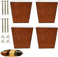 JSONA Massief houten bankvoetjes, vierkante bankvoetjes, met meubelpoten, houten meubelvoeten, salontafelvoeten, bedvoete...