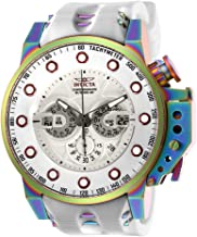 Invicta Men's I- I-Force Stainless Steel Quartz Watch with Silicone Strap, White, 24 (Model: 25277)