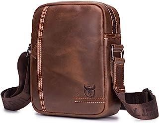 Genuine Leather Men Bags Small Shoulder Crossbody Bag for Men Everyday Casual Travel Messenger Bag Handbag