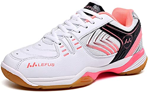 YPPDSD zapatos de bádminton, Anti-torsión Absorción de choques Calzado Deportivo Profesional para Entrenamiento físico Transpirable Confort Adecuado para múltiples Deportes zapatos de Interior,B,37