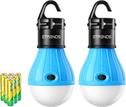E-TRENDS 2 Pack/4 Pack Compact LED Lantern Tent Camp Light Bulb for Camping Hiking Fishing Emergency Lights, Battery Powered Portable Lamp