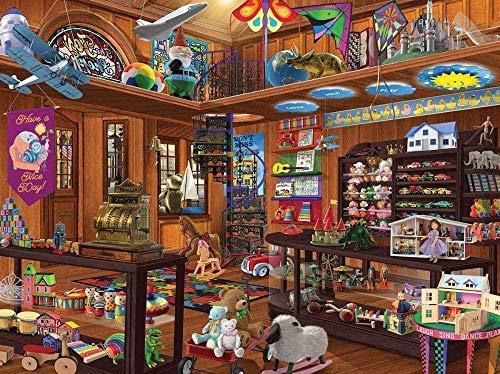 ZFJRKEE Rompecabezas de 1000 Piezas Educativo Intelectual Descompresión Divertido Juego de Rompecabezas Juguetes Regalo para niños Adultos - Tienda de Juguetes Buscar y Encontrar(ZFJ077)