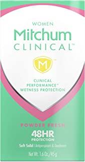 Mitchum Women Clinical Soft Solid Antiperspirant Deodorant ,Powder Fresh , 1.6 Ounce (Pack of 1)