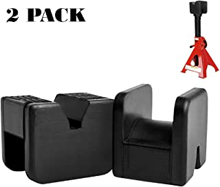 2 Pack Jack Pad Adapter Rubber Jack Pads Slotted Frame for Jack Stand General-Purpose Rubber