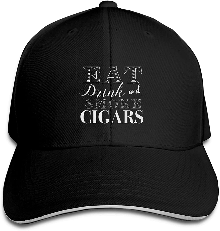 I Smoke Cigars and Know Stuff Baseball Cap Dad Caps Trucker Hats Adjustable Unisex Hat Black