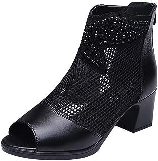 Trisee Sandalen voor dames, zomer, vrouwen, elegant, mesh, casual, mode, strandschoenen, sexy, blokhak, sandalen, ritsslui...