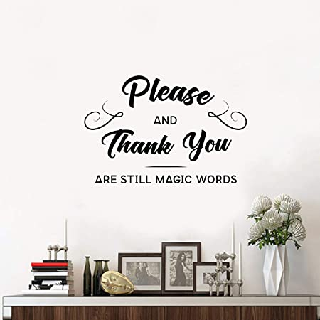 """12/"""" x 48/""""  WINDOW OR WALL DECAL THANK YOU"""