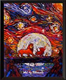 Uhomate The Lion Poster Vincent Van Gogh, Sternennacht,