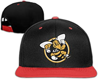 AIC Yellow Jackets Ice Hockey Sports Adjustable Casual Hip-hop Baseball Cap Red