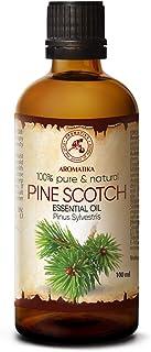 Kiefernadelöl Ätherisch - Pine Scotch 100ml - Pinus Sylvestris - Austria - 100% Natürliches - Frischer Nadelduft - Kieferöl für Sauna - Aromatherapie - Aroma Diffuser & Lampe - Kiefernadel Öl