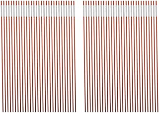 Autoparts Orange Reflective Driveway Markers Snow Stakes 48 Inches Long 1/4-Inch Dia Markers Pack of 25