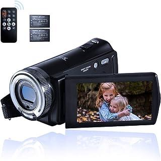ORDRO Cámara de Video de Visión Nocturna Cámara Vlogging Youtube Full HD 1080P 15FPS 30MP 3.0 Pulgadas Rotación de 270 Gra...