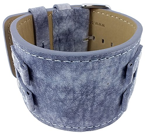 Bruno Banani Uhrenarmband Leder für XT Rectangular BR20922, Farbe:blau