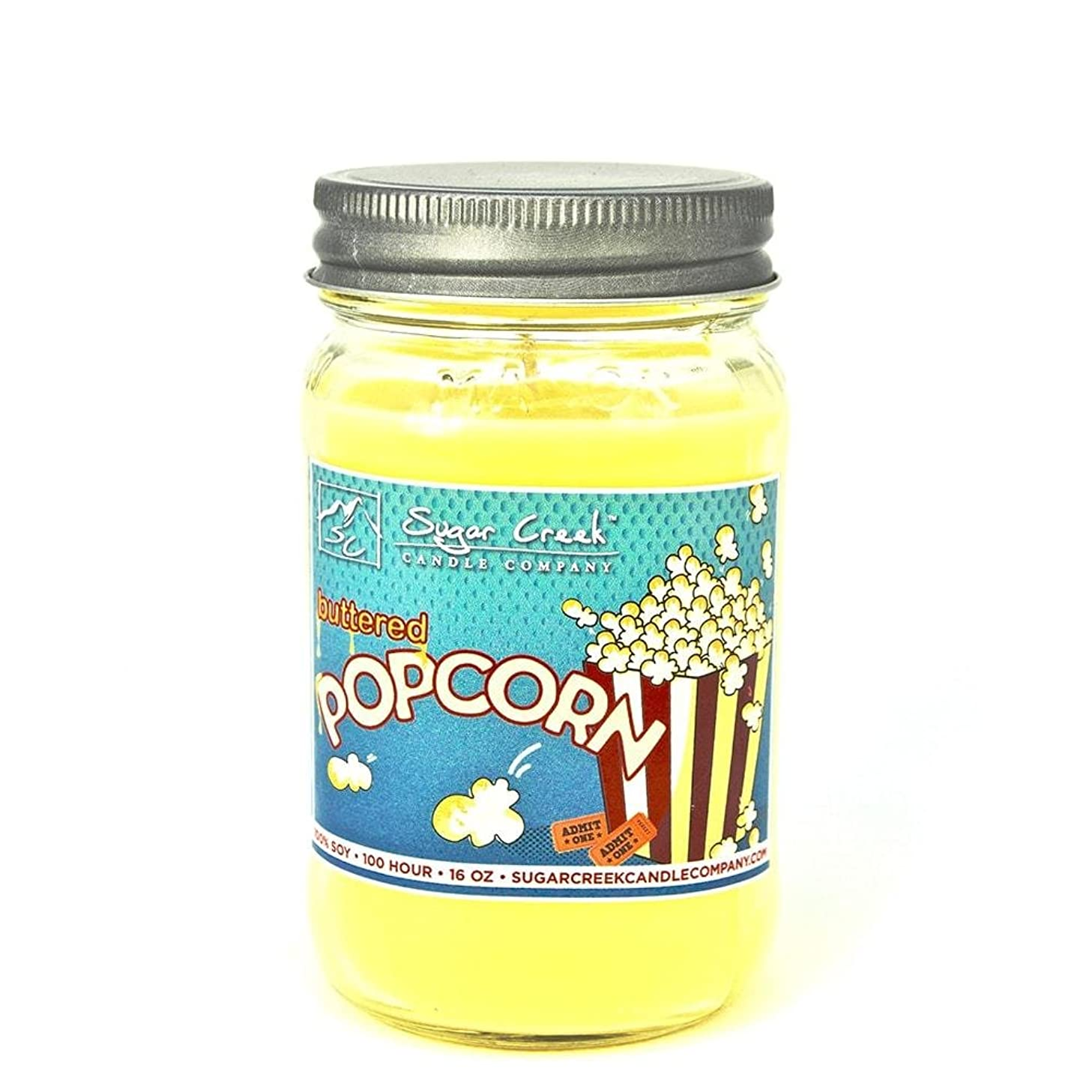 Buttered Popcorn (Movie Theater Style) 100% Soy Wax Candle. Soy Candles Burn Cleaner ~ Longer ~ Non-Toxic ~ The Original 100% Yinzer Made in USA. Gift for Any Occasion - Sugar Creek Ca fncpbfhbh