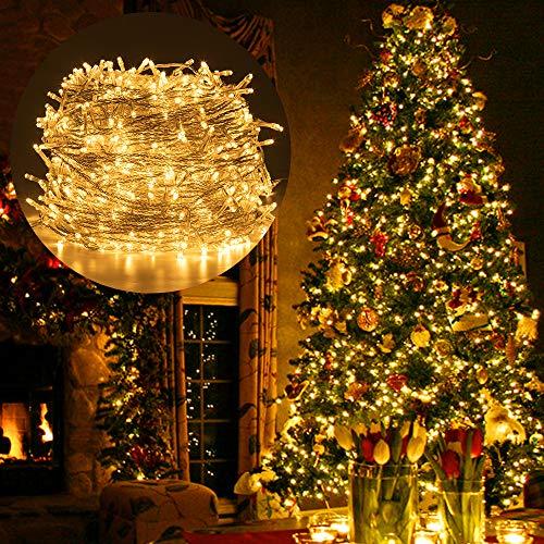 Luces Navidad Exterior, Ulinek 100M 1000LED Guirnalda Luces Navidad LED Habitacion IP44 Resistente al Agua 8 Modos Cadena Luces con Rueda Almacenamiento para Habitacion Jardin Arbol Navidad Fiesta