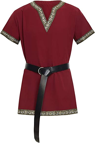 dream cosplay Medieval Caballero Camiseta Vikinga Pirata Túnica