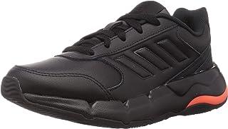 Adidas Hotaki Side-Stripe Contrast-Sole Zip-Closure Lace-Up Unisex Walking Sneakers