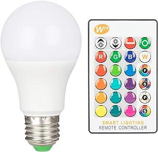 Haian Support LED電球 E26 40W形相当 RGB 昼光色 16色選択 リモコン付き 装飾 普段照明 記憶機能