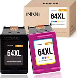 INKNI Remanufactured Ink Cartridge Replacement for HP 64 64XL for Envy Photo 7855 7155 7858 6255 6252 7120 7800 7158 6258 5542 7164 7130 7864 6220 6230 7830 (Black, Tri-Color, 2-Pack)