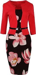 Women's 1950s Slim Bodycon Business Work Career Pencil Church Dress