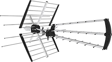 Philex Amplified Outdoor HDTV Antenna, High-Performance 33FT Coaxial Cable with180 Miles of HD Reception Signal VHF UHF Easy Folding Assembly, Large