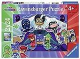 Ravensburger Puzzle - Pj Mask Puzzle 2 X 24 Pz, Puzzle Para Niños