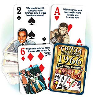 Flickback 1966 Trivia Playing Cards: 1966 Birthday or 1966