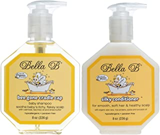 Bella B Naturals Items Bee Gone Cradle Cap Shampoo Plus Silky Conditioner, 2 Count