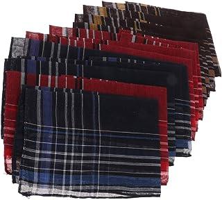 Pack Baumwolltaschentücher Retro Plaid Taschentücher 12