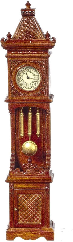 Melody Jane Puppenhaus Arbeit Walnuss Gotische Viktorianisch Standuhr JBM Miniaturen
