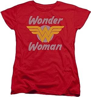 DC Wonder Woman Comics Superhero WW Logo Women's T-Shirt Tee
