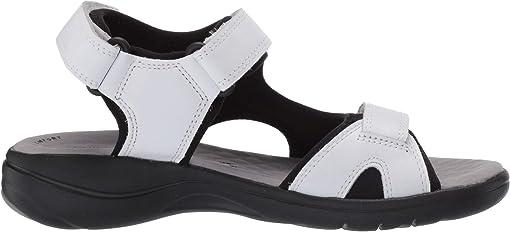 White Leather/Textile Combi