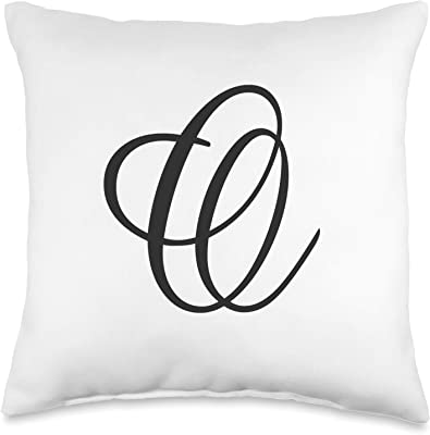 Abby Smith Intricate Script White Satin Throw Pillow 16 Inch Square With Insert Included Letter Q Home Kitchen