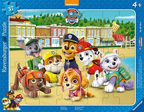 Ravensburger Kinderpuzzle - 06155 Familienfoto - Paw Patrol Rahmenpuzzle für Kinder ab 4 Jahren, mit 37 Teilen