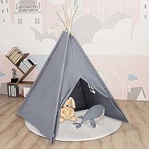 Lektält tunnlar barn tipi-tält med väska persikohud grå 120 x 120 x 150 cm